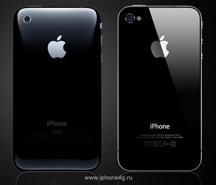 Графическое сравнение iPhone 4 и iPhone 3GS